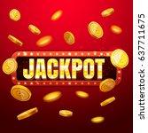 jackpot casino banner  read... | Shutterstock .eps vector #637711675