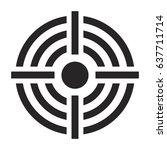 crosshair target vector symbol... | Shutterstock .eps vector #637711714
