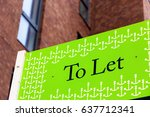 to let signs outside a english... | Shutterstock . vector #637712341