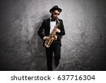 Jazz Musician Playing A...