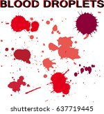 blood splatter on white... | Shutterstock .eps vector #637719445