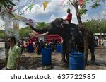 ayutthaya  thailand   april 14  ...   Shutterstock . vector #637722985