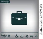 briefcase icon  vector... | Shutterstock .eps vector #637724539