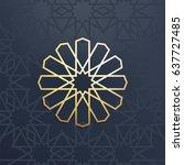islamic arabic background. gold ... | Shutterstock .eps vector #637727485