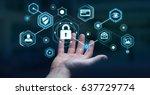 businessman on blurred... | Shutterstock . vector #637729774