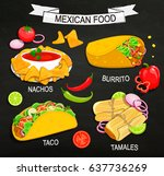 concept of traditional mexican ... | Shutterstock .eps vector #637736269