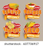 set of traditional mexican food ... | Shutterstock .eps vector #637736917