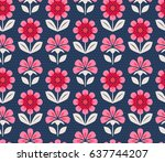 seamless floral pattern | Shutterstock .eps vector #637744207