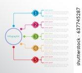 vector infographic templates... | Shutterstock .eps vector #637745287