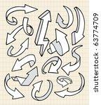 doodle arrows | Shutterstock .eps vector #63774709
