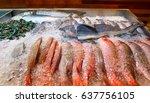 a baby shark is a part of fresh ... | Shutterstock . vector #637756105