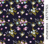 seamless delectable pattern of... | Shutterstock . vector #637757521