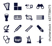 instrument icons set. set of 16 ... | Shutterstock .eps vector #637758475