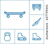 outdoors icon. set of 6... | Shutterstock .eps vector #637759441