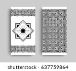 ornamented covers design in... | Shutterstock .eps vector #637759864