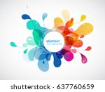 abstract colored background... | Shutterstock .eps vector #637760659