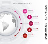 infographic template with five...   Shutterstock .eps vector #637760821