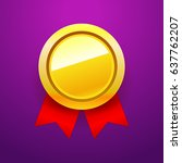 golden blank medal award with...