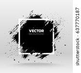 black grunge abstract... | Shutterstock .eps vector #637770187