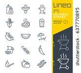 lineo editable stroke  ... | Shutterstock .eps vector #637770895