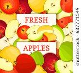 two white rectangle label on... | Shutterstock .eps vector #637771549