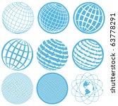 icon globe | Shutterstock .eps vector #63778291