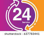 service and support for... | Shutterstock .eps vector #637783441