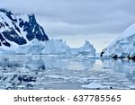 Icebergs Lining The Lemaire...