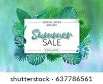 summer sale banner template. | Shutterstock .eps vector #637786561