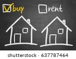 house to buy or for rent... | Shutterstock . vector #637787464