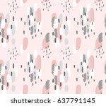 hand painted brush strokes in... | Shutterstock .eps vector #637791145