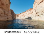 navajo sandstone walls ... | Shutterstock . vector #637797319