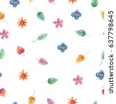 watercolor colorful pattern.... | Shutterstock . vector #637798645