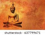 Buddha Painting In Lotus...