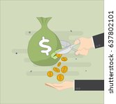 concept regarding cutting of... | Shutterstock .eps vector #637802101