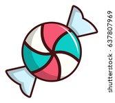 candy icon. cartoon...   Shutterstock .eps vector #637807969