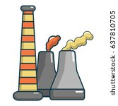 industrial smoke from chimneys... | Shutterstock .eps vector #637810705