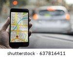 gps navigation on mobile phone... | Shutterstock . vector #637816411