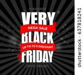 black friday sale inscription... | Shutterstock . vector #637818241