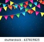 streamers background design... | Shutterstock .eps vector #637819825