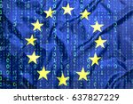Data Protection  Binary Code...
