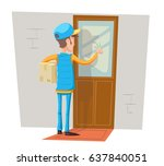 express courier special... | Shutterstock .eps vector #637840051