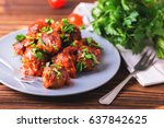 traditional italian beef... | Shutterstock . vector #637842625