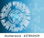 abstract vector future... | Shutterstock .eps vector #637843429