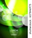 shiny green silk wave template  ... | Shutterstock .eps vector #637846975