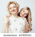 mother with daughter together... | Shutterstock . vector #637850101