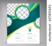 vector abstract template design ... | Shutterstock .eps vector #637852651