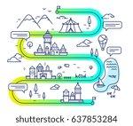 vector illustration of city... | Shutterstock .eps vector #637853284