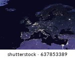 europe by night   view from... | Shutterstock . vector #637853389