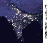 india by night   view from... | Shutterstock . vector #637853395